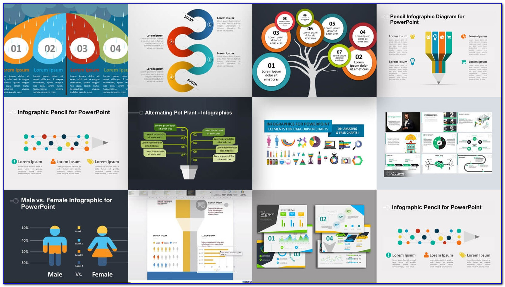 Infographic Template Powerpoint Free Download