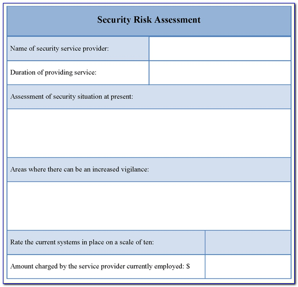 Information Security Risk Assessment Template Excel