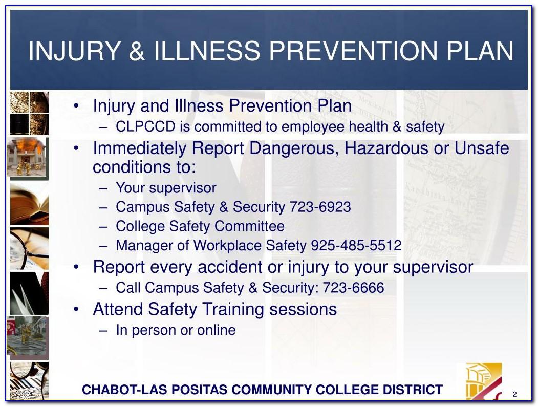 Injury And Illness Prevention Program Template