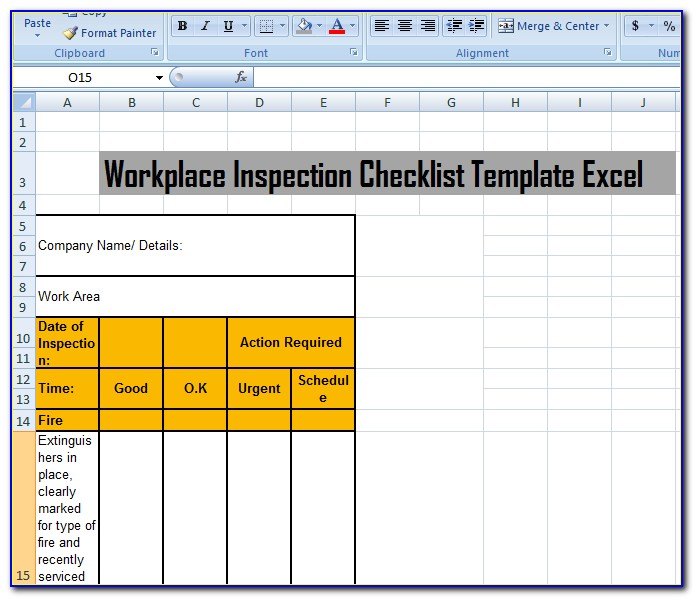 Inspection Tag Template Word