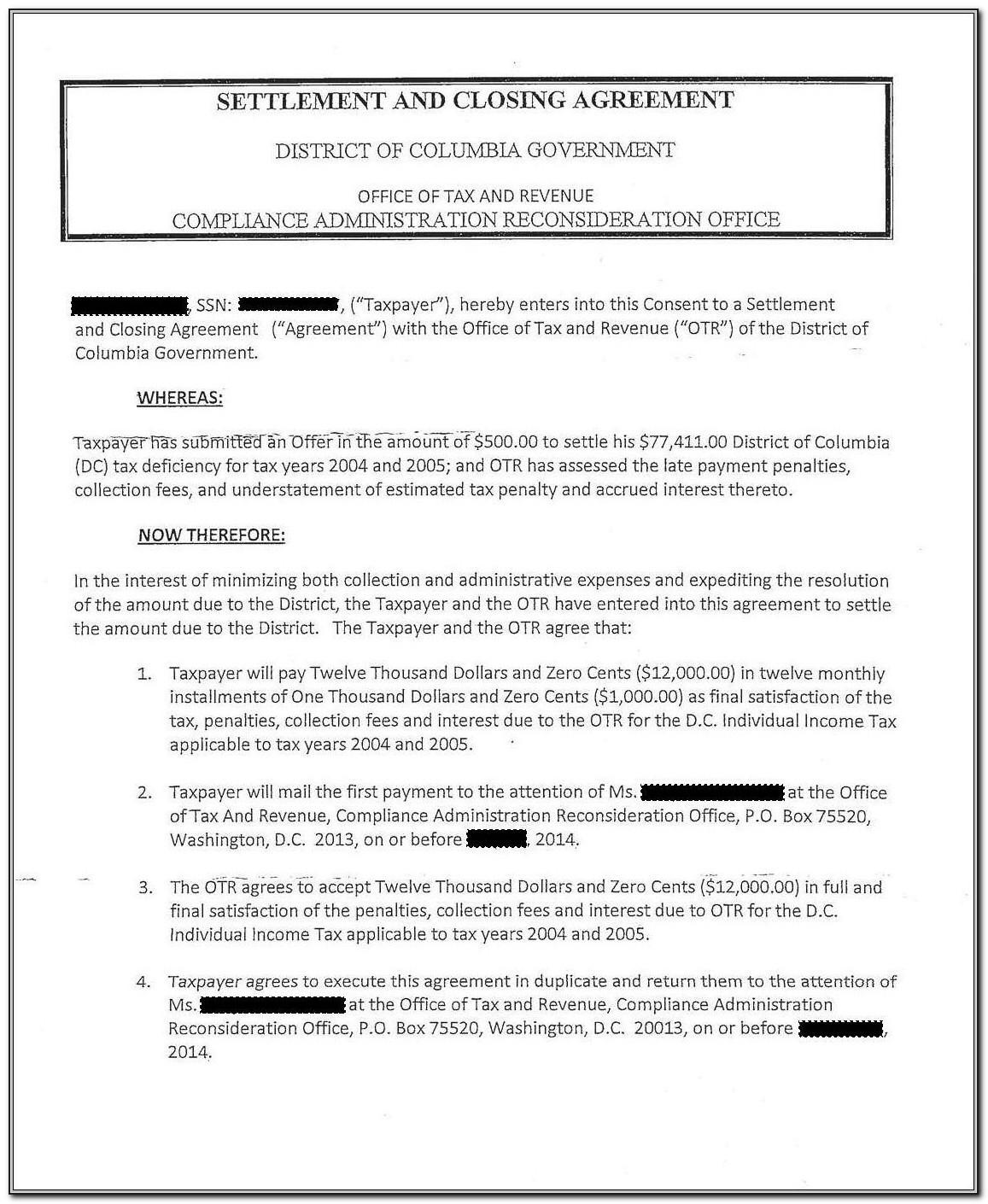 Installment Agreement Template Free