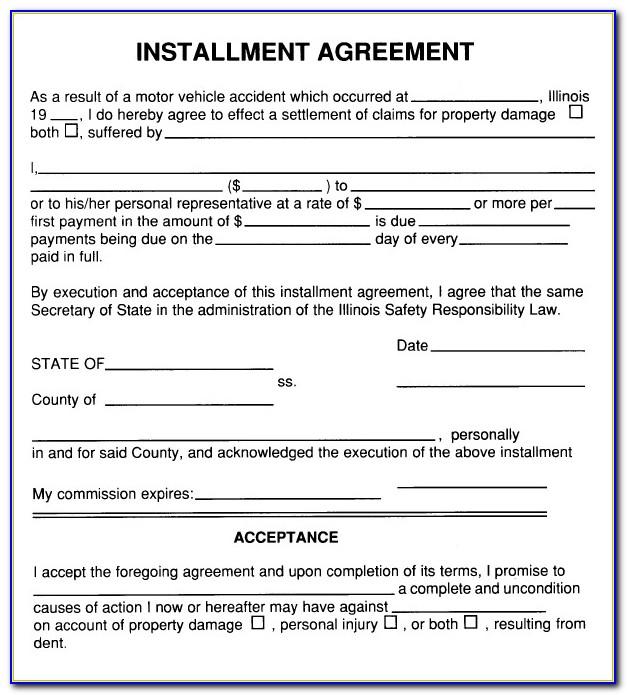 Installment Payment Agreement Template Free