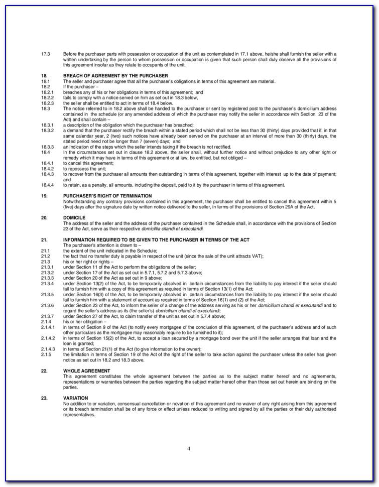 Installment Sale Contract Template