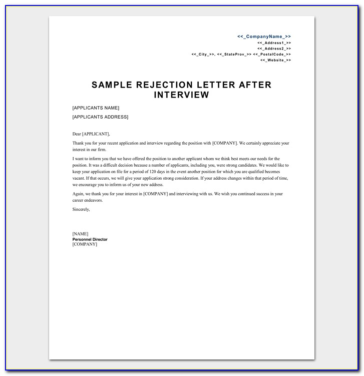 Insurance Denial Letter Sample
