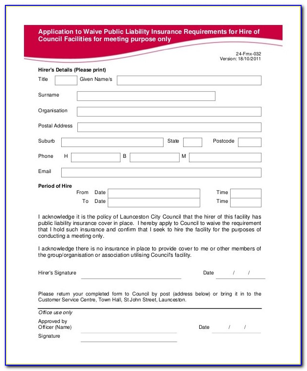 Insurance Waiver Form For Non Covered Services