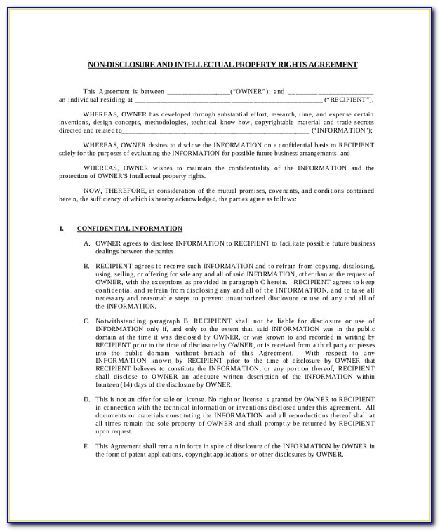 Intellectual Property Agreement Template Canada