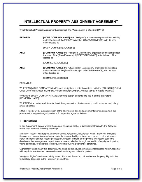 Intellectual Property Confidentiality Agreement Template