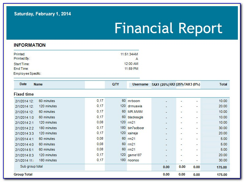 Interim Financial Statements Example Excel