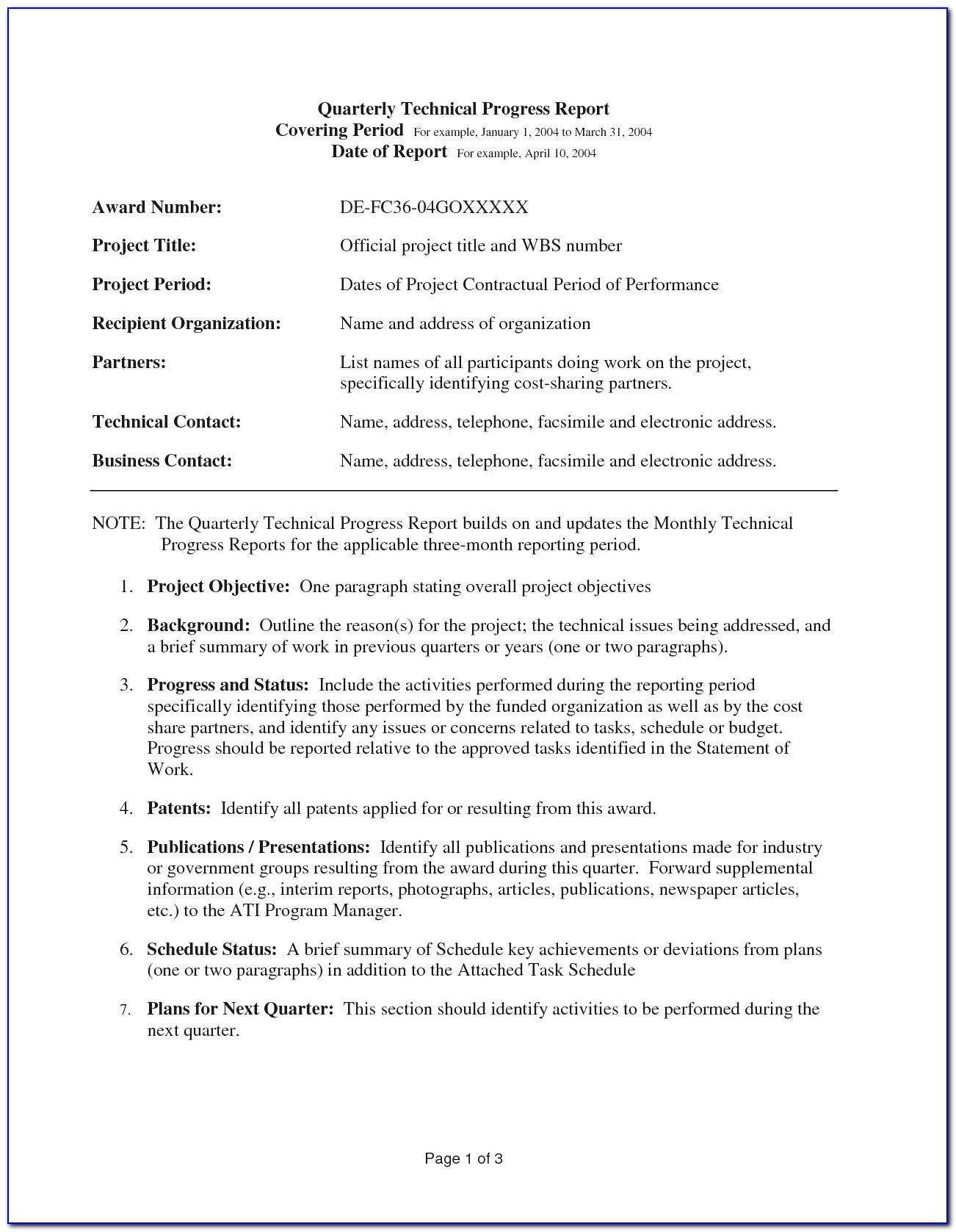 Interim Financial Statements Sample
