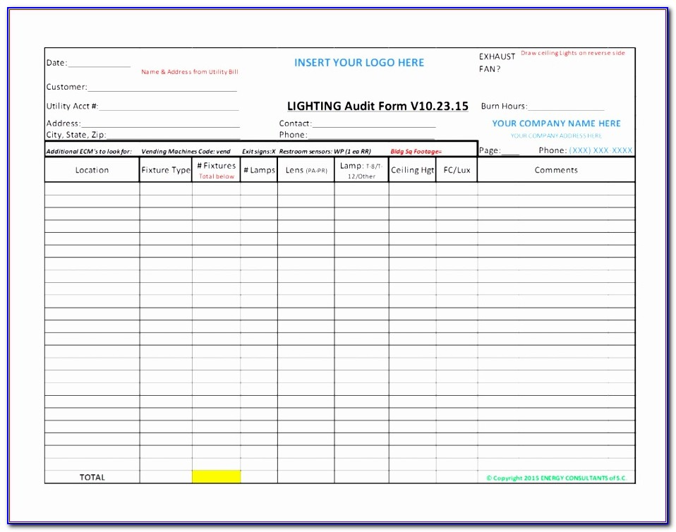 Internal Audit Plan Template Xls