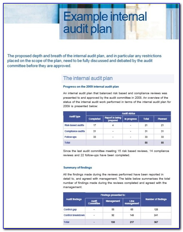 Internal Audit Policy Template