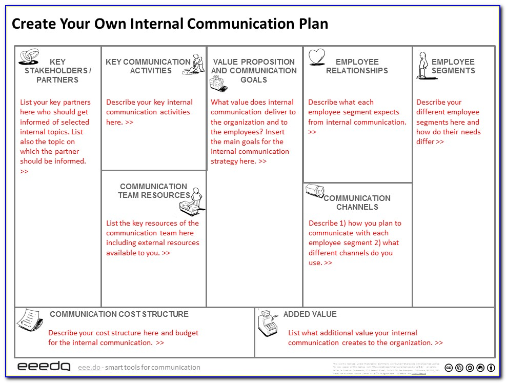 Internal Communication Plan Template Excel