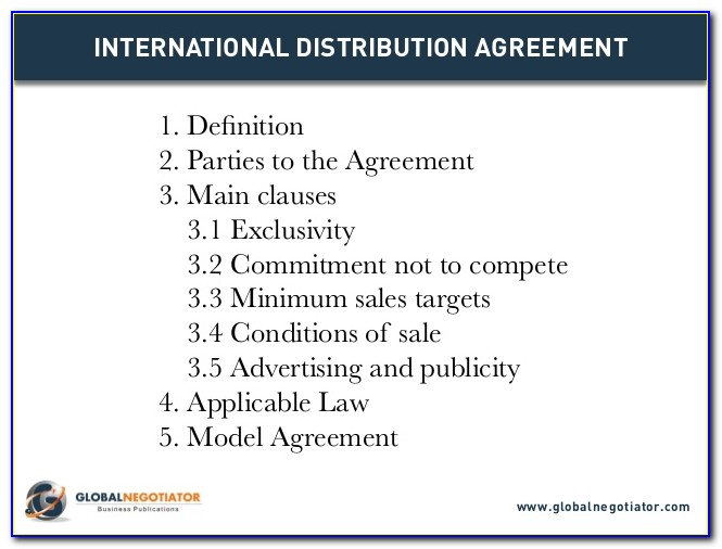 International Distribution Agreement Form