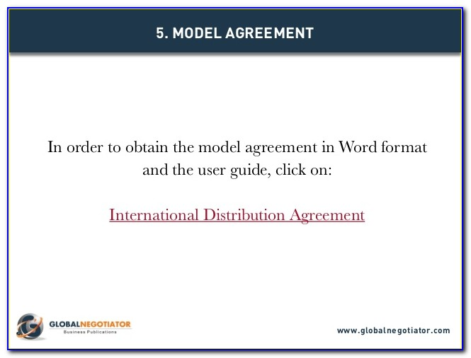 International Exclusive Distribution Agreement Template