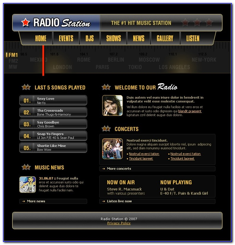 Internet Radio Web Templates