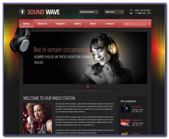 Internet Radio Website Templates