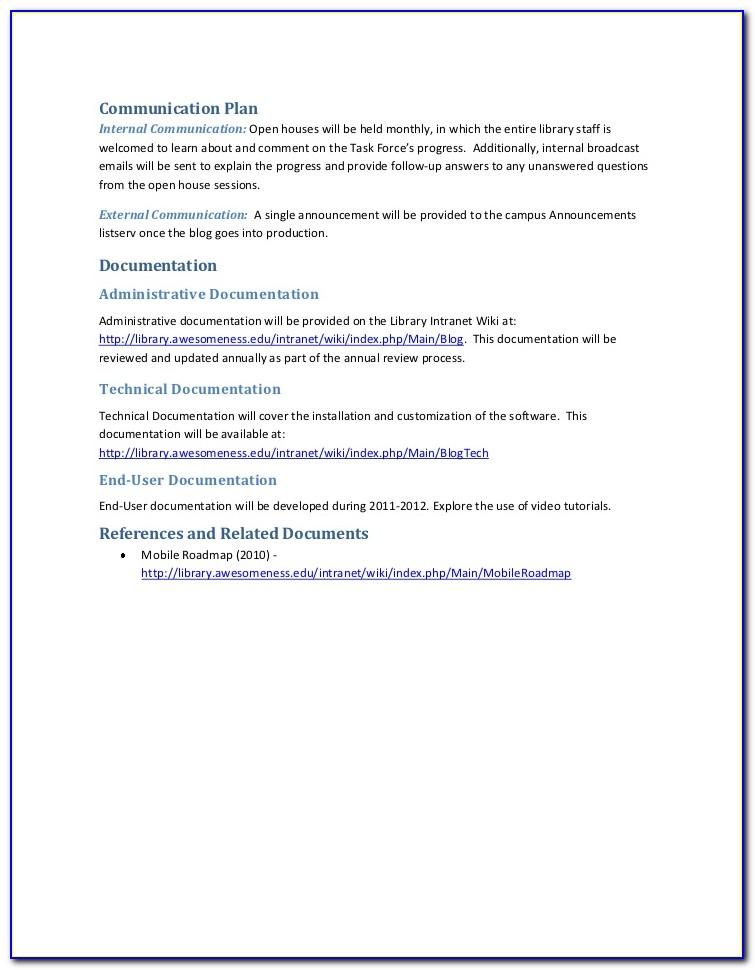 Intranet Web Page Templates