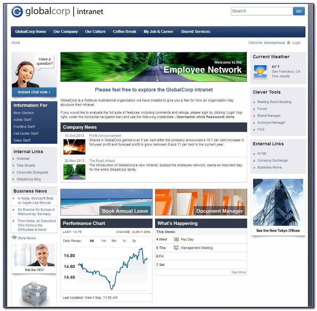 Intranet Website Templates Free