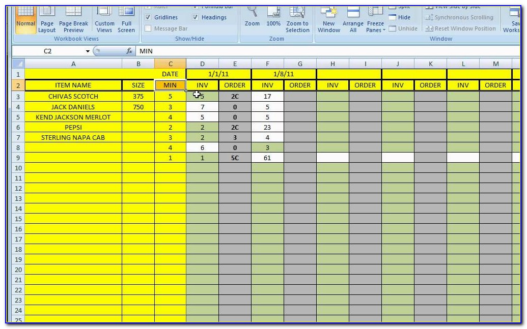 Inventory Control Excel Spreadsheet Free