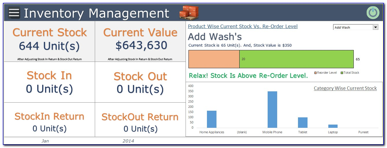 Inventory Management Model Excel