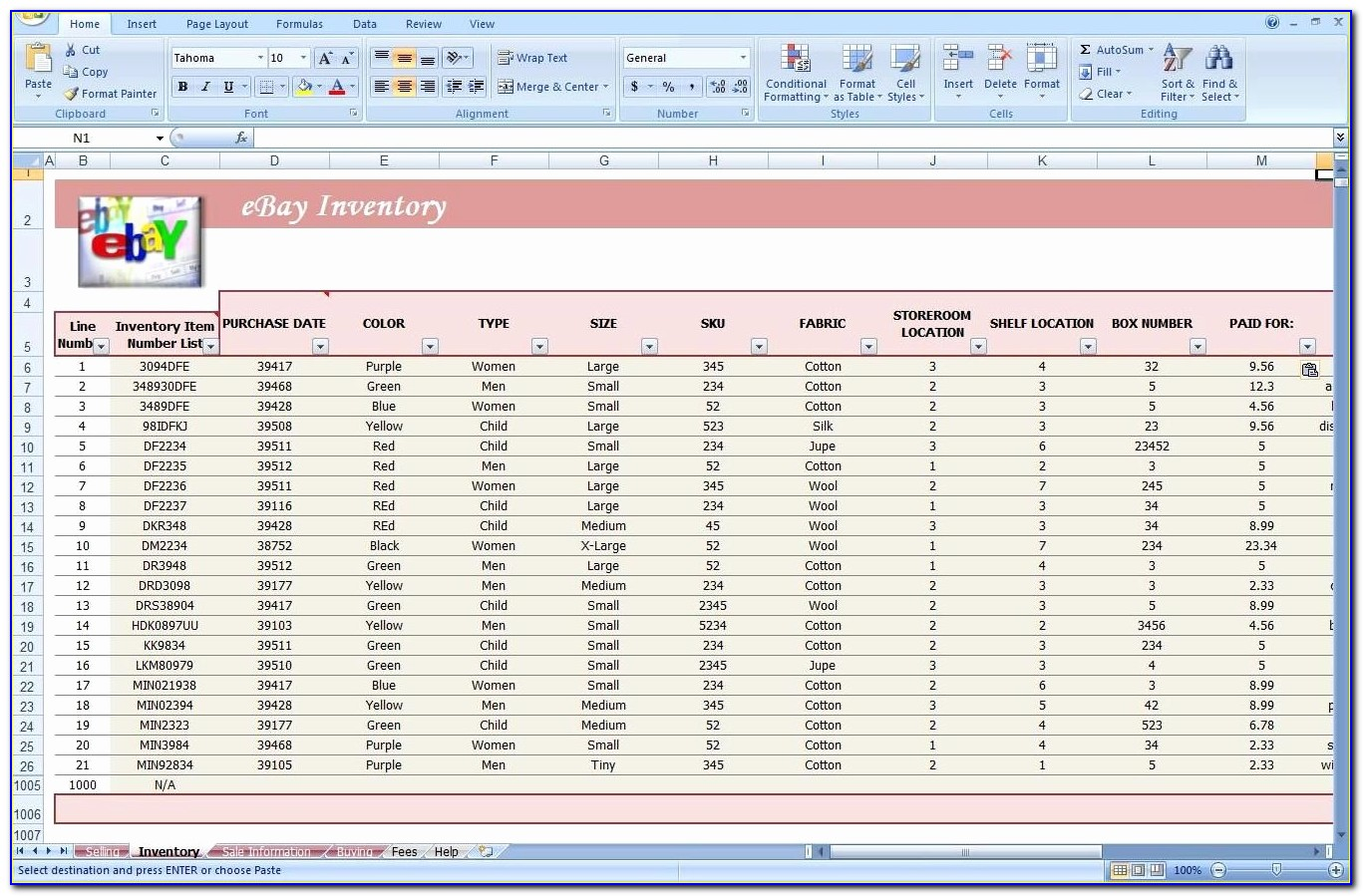 Inventory System Excel Free Download