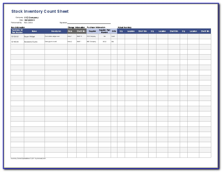 Inventory Templates Excel Free