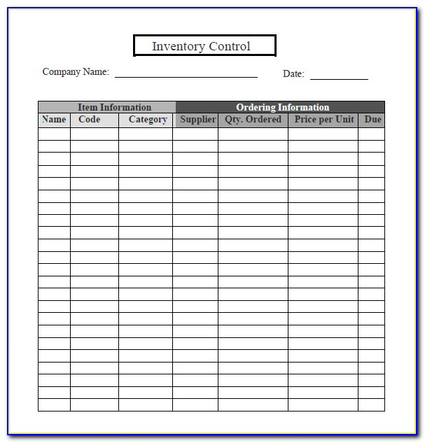 Inventory Tracker Sheet Excel