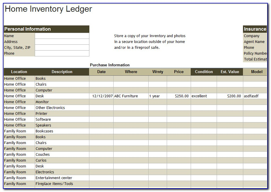 Inventory Tracking Excel Template Free