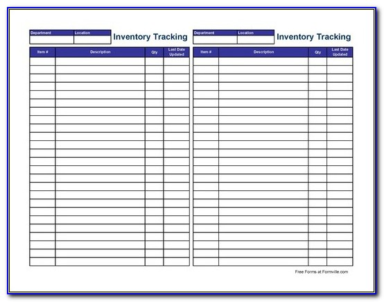 Inventory Tracking Template Excel Free