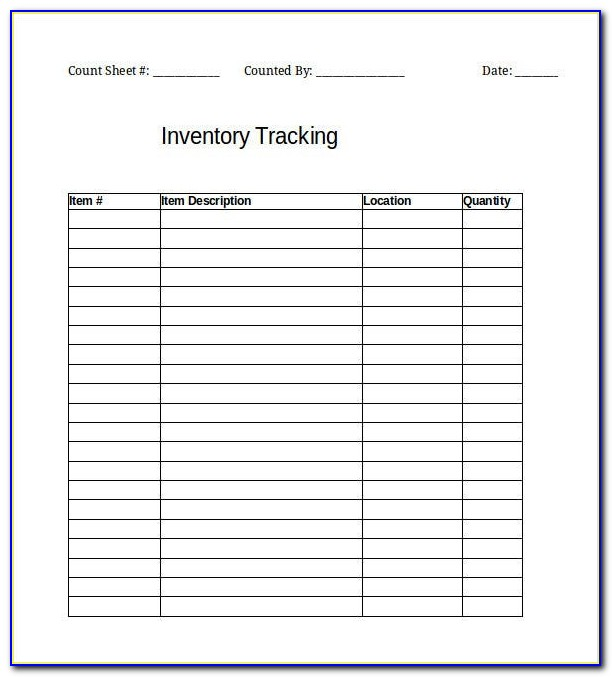 Inventory Tracking Templates Excel