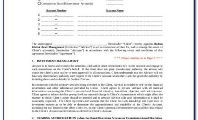 Investment Advisory Agreement Template