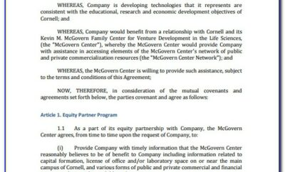 Investment Agreement Format Word