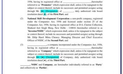 Investment Agreement Template Word