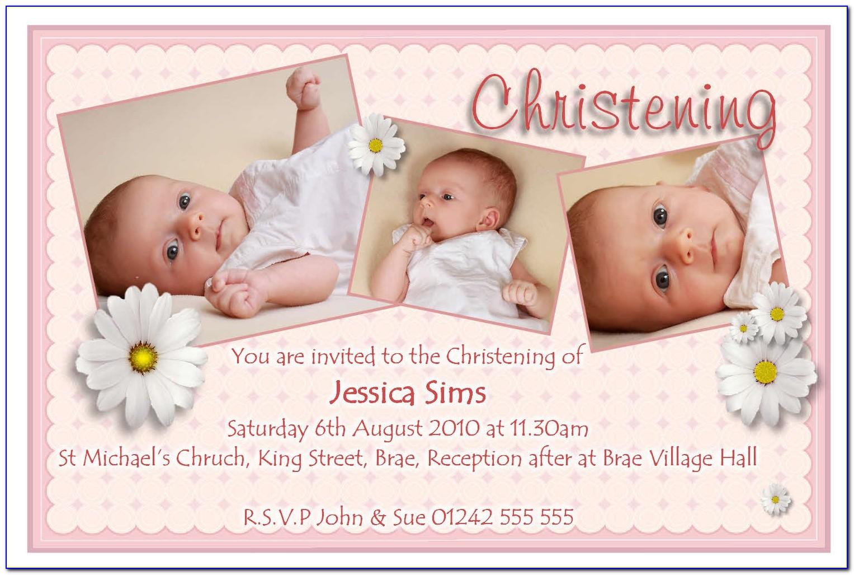 Invitation Cards Designs For Baptism