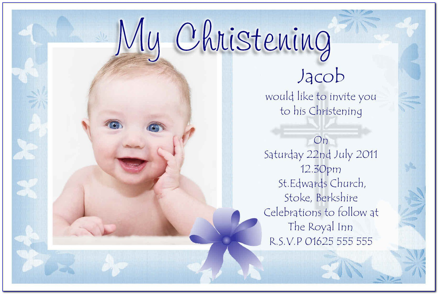 Invitation Cards For Baptism