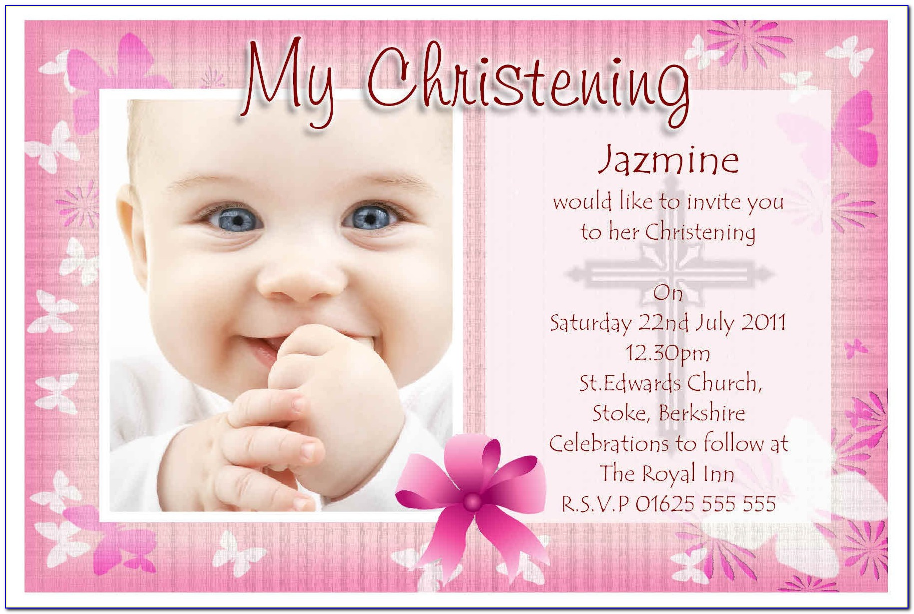 Invitation Designs For Christening