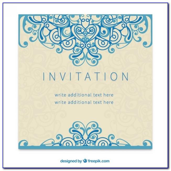Invitation Template Free Download