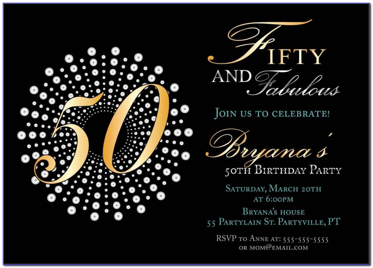Invitation Templates For 50th Birthday