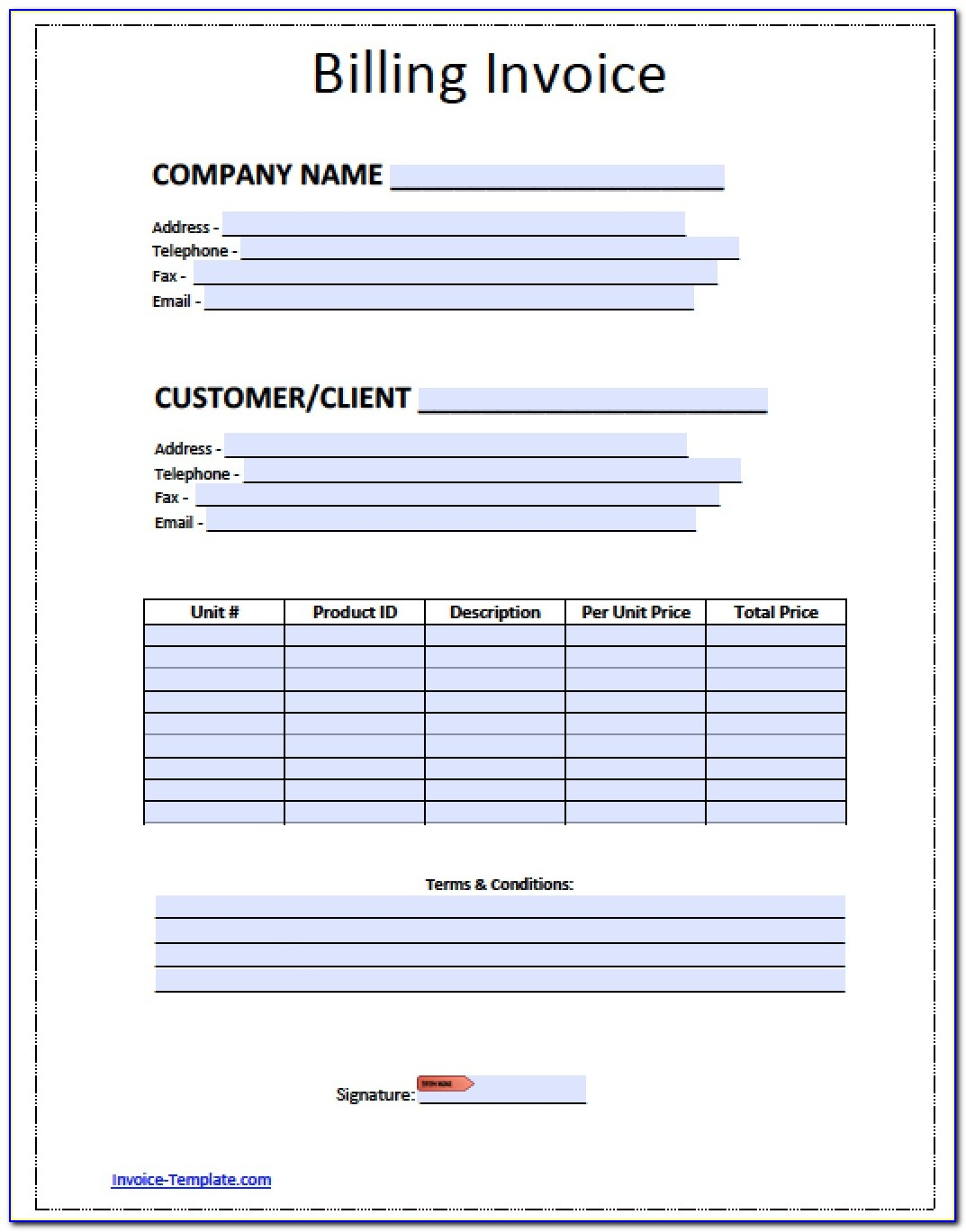 Invoice Examples For Designers