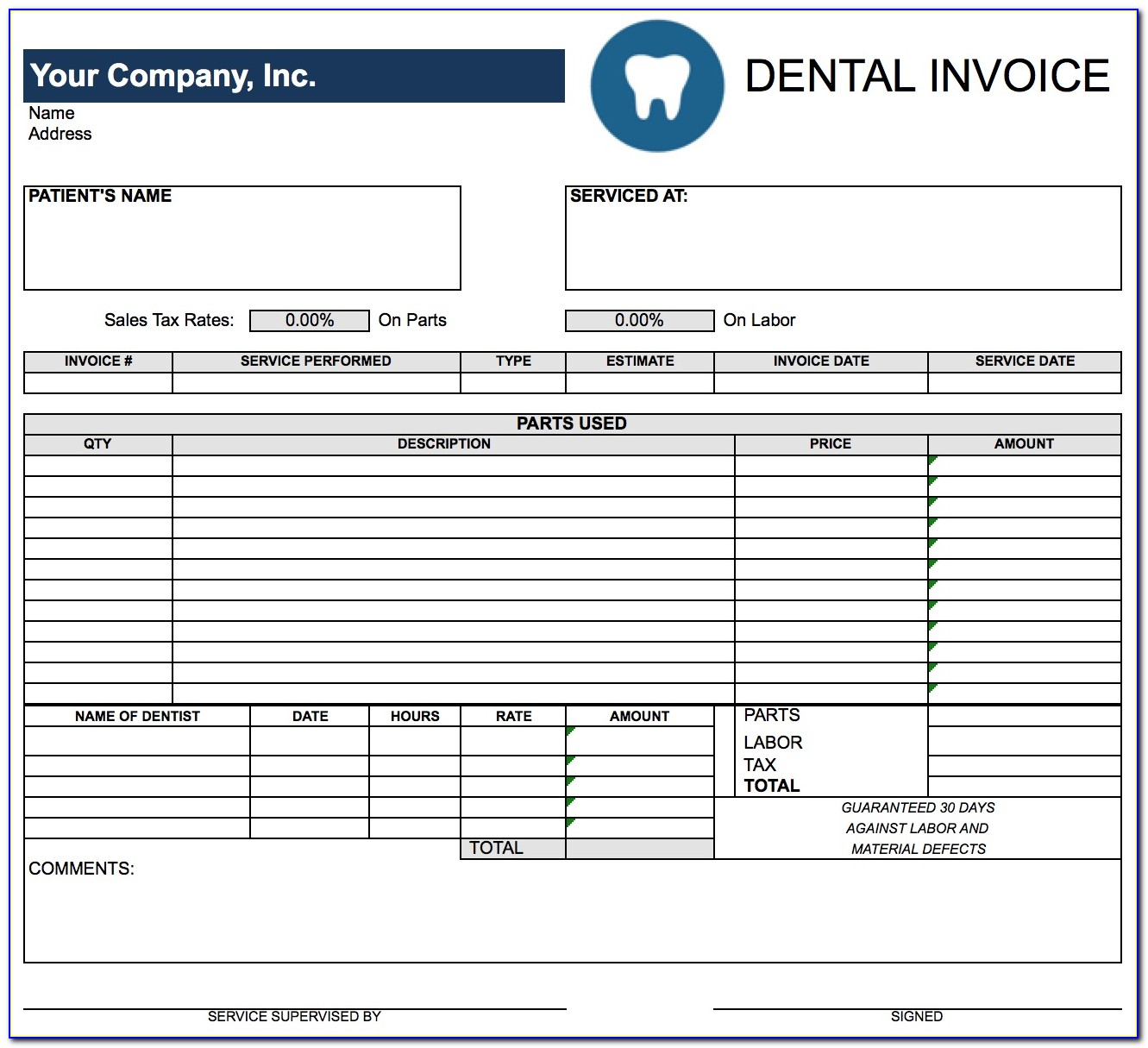 Invoice For Payment Example