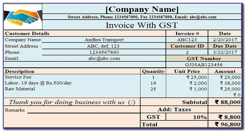 Invoice Layout Template Word
