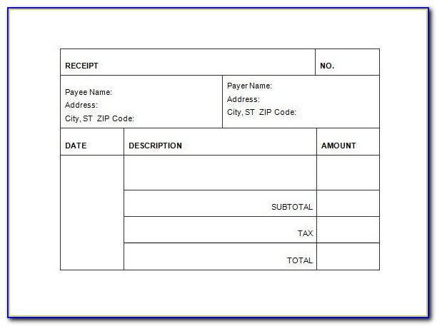 Invoice Receipt Template Australia