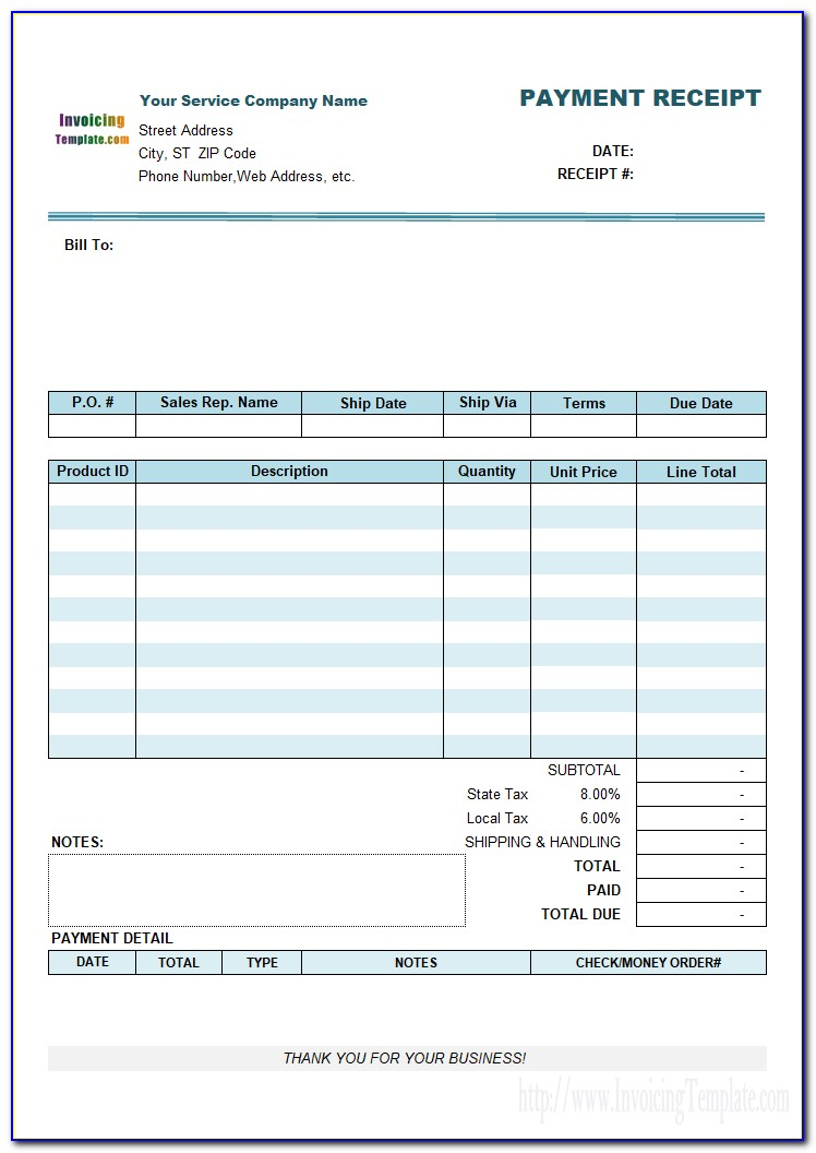 Invoice Receipt Template Uk