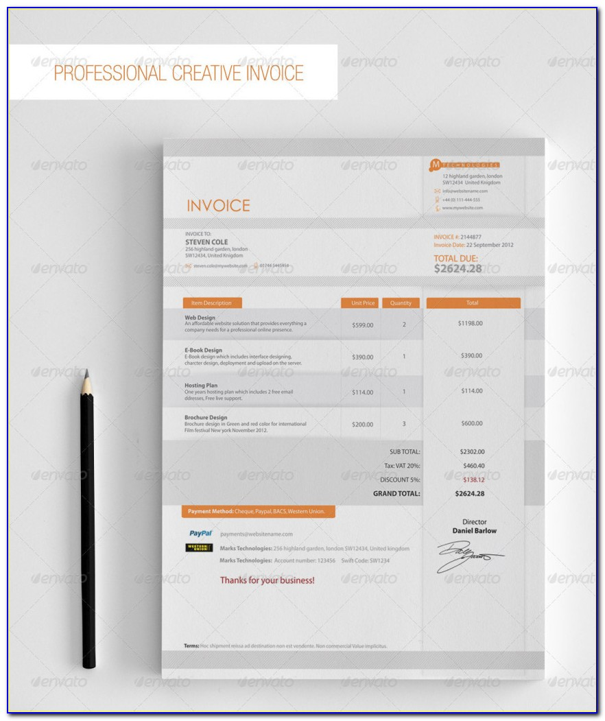 Invoice Template Download Free Excel