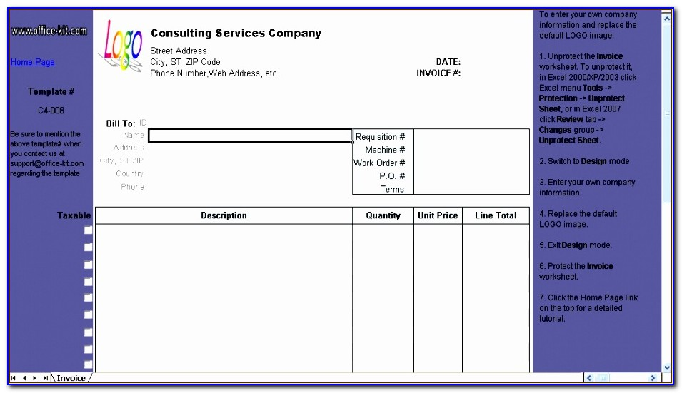 Invoice Template For Freelance Designers