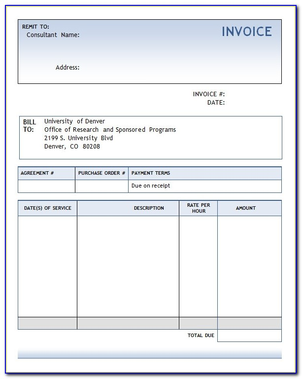 Invoice Template For Graphic Designers
