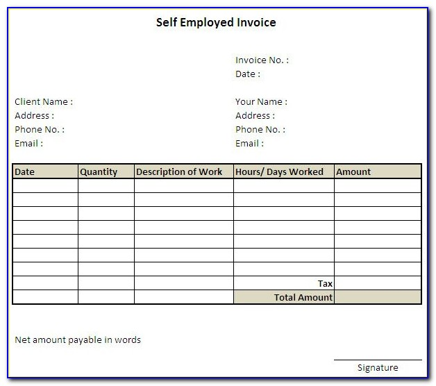 Invoice Template For Ipad Pro