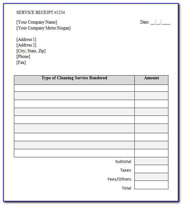 Invoice Template For Mac Word