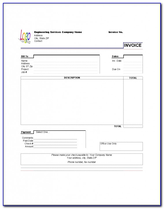 Invoice Template For Pages Ipad