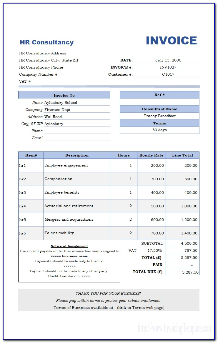 Invoice Template For Pages Iphone